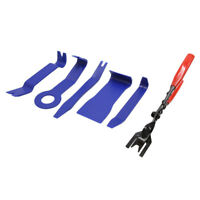 Blue Car Door Clip Panel Video Dashboard Dismantle Tool Kits w Removal Pliers