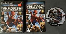 Marvel Ultimate Alliance 2 PS2 Sony PlayStation 2 2009 Complete Scratched Works