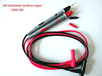 1 Pair Ultra sharp pointed Probe Test Leads Pin Cable 20A For Multimeter Meter