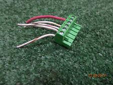 Code 3 Federal Signal Whelen Mastercom 6 Pin Terminal Green Pcb Wire Block Plug