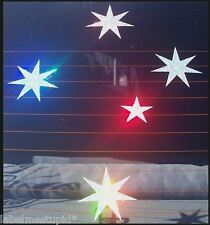 XL RAINBOW HOLOGRAPHIC SOUTHERN CROSS STICKER CAR P