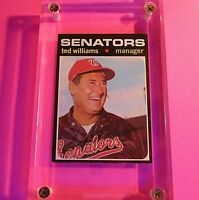 1971 Topps #380 Ted Williams Washington Senators ExMt HOF