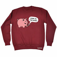 Gimme All Your Money WOMENS T-SHIRT Humor Pig Piggy Bank Funny birthday gift