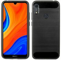 Gel Silikonschutz Tasche Hülle Bumper Schutz Case Cover Carbon für Huawei Y6s