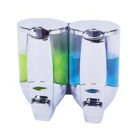 2 Loch Wandmontage Seifenspender Shampoo Spender Dispenser Flüssigseifenspender