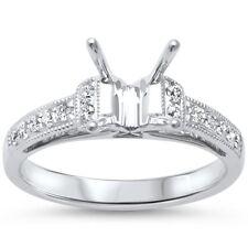 .23ct F SI 14kt White Gold Princess Cut Diamond Semi Mount Engagement Ring