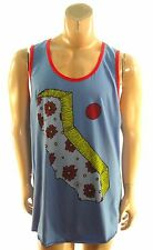 ALTRU NEW MENS BLUE COTTON SLEEVELESS TANK TOP GRAPHIC SHIRT sz- XL