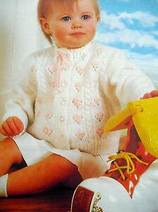 "#7 Baby Girl Vintage DK Cardigan & Bootees 18-24"", 45-61cm Knitting Pattern"