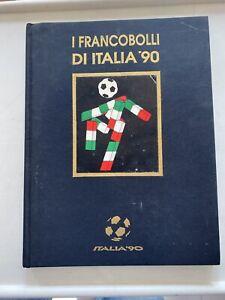 1990 MONDIALI Folder Libro con Emissioni Italia '90 + Foglietti e francobolli
