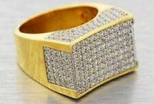 Lab Made SIMULATED DIAMOND .925 RING MENS MASTER SET SILVER BIG PINKY