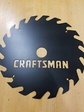 Craftsman sawblade metal wall art plasma cut sign gift idea circular