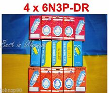 Rare 6N3P-DR = 2C51 = 6385 = ECC42 tubes NEW LOT 4 pcs