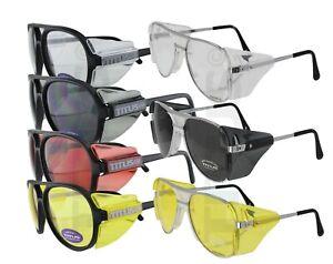 Titus Retro Aviator Safety Glasses Shooting Motorcycle Eye Protection ANSI Z87