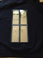 Pittsburgh Steelers Super Bowl IX, X, XIII and XIV 22kt Gold Ticket Set (NEW)
