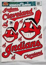new, unused CLEVELAND INDIANS WINDOW CLINGS - 12 different decals - MLB official