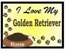 Golden Retriever Personalized I Love My Golden Retriever Magnet