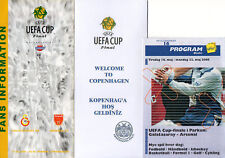 2000 UEFA Cup Final Galatasaray V Arsenal Fan Information Documents