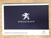 NEW PEUGEOT SERVICE HISTORY AND MAINTENANCE RECORD BOOK GENUINE NEW PEUGEOT