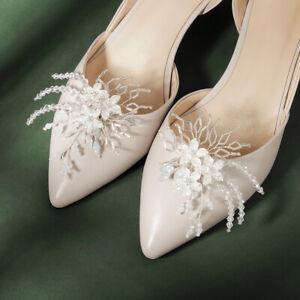 1 Pair rhinestone shoe clips wedding party shoes charm decoration - BNIP