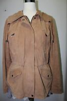 BERNARDO Women's Light Brown Large Genuine Soft Suede Leather Jacket $398