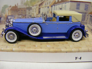 Matchbox Models Of Yesteryear Y4 1930 Duesenberg Model J Two Tone Blue