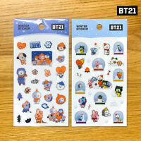 BTS BT21 Official Authentic Goods Winter Sticker 2SET + Tracking Number