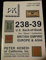 PK Stamp Auction Catalogue (Jun 1-2, 1981) / USA Back of Book / Europe / British
