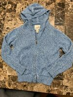 Peek Boys Size XS 2-3 Cable Knit sweater Nordstrom Blue/W Hooded Zip up Jacket