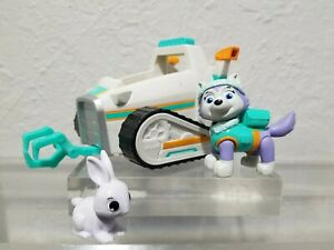 Paw Patrol Vehicle Everest's Rescue Snowmobile backpack lot white rabbit