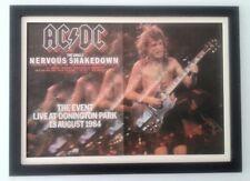 AC/DC*Donington*1984*ORIGINAL*POSTER*AD*FRAMED*FAST WORLD SHIP