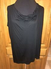 Womeńs SEN COLLECTION NWT Black Sleeveless Tunic/Top ONE SIZE $84.50