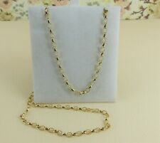 9ct 9carat Yellow Gold Solid Oval Belcher Link Chain, 20''  5.6grams