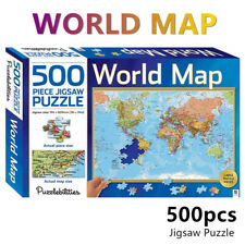 World Map Jigsaw Puzzles 500 Pieces Set Adult Kids Learning Toys Activity Game