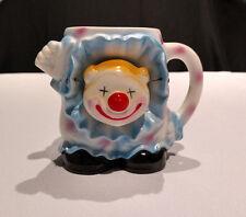 Vtg. Bobble-Head Clown Ceramic Novelty Coffee Mug by Sarsaparilla Deco Designs
