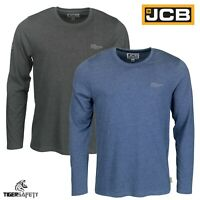 JCB Trade Lightweight Marl Sweatshirt Sweater Jumper Long Sleeved T-Shirt Top