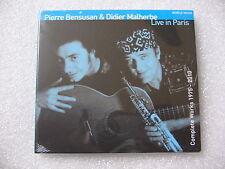 CD DIGIPACK PIERRE BENSUSAN & DIDIER MALHERBE - LIVE IN PARIS  / neuf & scellé