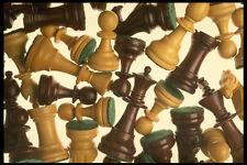 703087 pièces d'échecs A4 imprimé photo texture