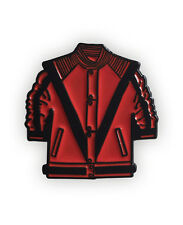 Michael Jackson inspired Enamel Pin Badge, Thriller, halloween, red jacket,