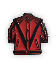 Michael Jackson inspired Enamel Pin Badge, Thriller, halloween, red jacket,