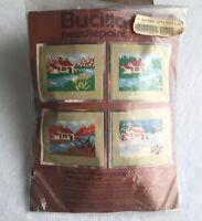 Bucilla Vintage Needlepoint Seasons Kit 4145 Winter Opened Package No Needle