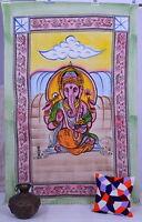 Indien Ganesha Tenture Tapisserie Murale Double Décor Couvre-Lit Couverture Lit