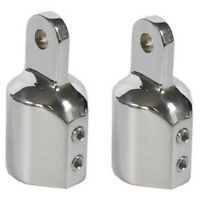 2 Pcs 22mm/ 0.87inch Boat Bimini Top Eye End Cap for Yacht Boat Accessories R7P7