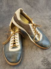 Fossil Leather Mens 10 Shoes Lace Up Multicolor Casual Oxford bowling perforated
