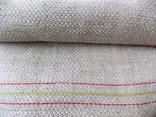 Antique Interesting Homespun Raw Hemp Fabric 5,7x0,4m 1900s Great cond. NOT USED