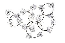 """Wanddeko """"Glitzernde Blüten"""" Wandbild Metallbild Wandschmuck Bilder Bild Deko"""