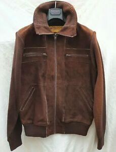 Vintage 70's Paris Fashion Leather & Suede Jacket Size L