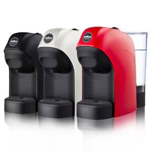 Macchina da Caffè Espresso LAVAZZA Tiny Rossa per Capsule a Modo Mio LM800 Nera