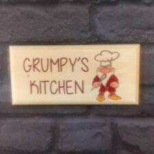 Grumpys Kitchen Plaque / Sign / Gift - Home House Cooking Chef Dwarf Mum Dad 155