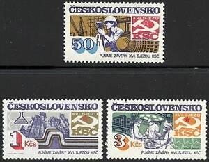 CZECHOSLOVAKIA 1983 PARTY CONGRESS  MNH  MEDICINE, CHEMISTRY A14