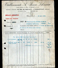"""CHARLEVILLE (08) MEULES ABRASIVES Suisse Winterthur """"A. SISSON & LEHMANN"""" en1926"""